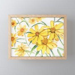 Sunny Flowers Perennial Framed Mini Art Print