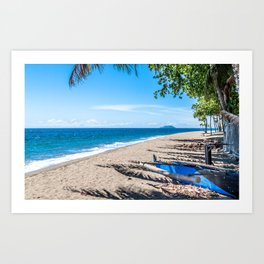 Dauin Beach View Art Print