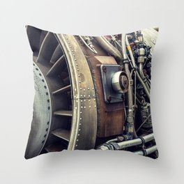 Jet Engine Throw Pillow