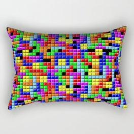 Tetris Inspired Retro Gaming Colourful Squares Rectangular Pillow
