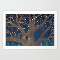 Put the lights on the tree Art Print