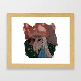 Mice and Mushrooms Framed Art Print