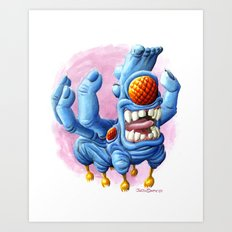 He Sure Looks Happy Art Print