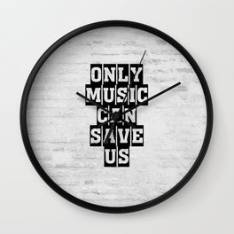 Only music can save us grange pattern Wall Clock