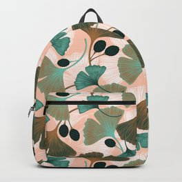Ginkgo leaves and berries seamless pattern Backpack