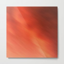 Abstraction . Orange-brown blurred background . Metal Print