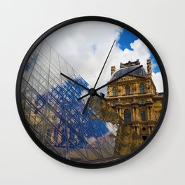 The Louvre Pyramid Wall Clock