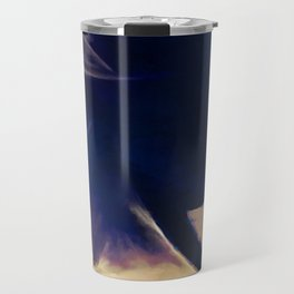 Portrait Of A Young Woman In Profile Travel Mug