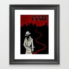 Profondo Rosso Tribute Framed Art Print