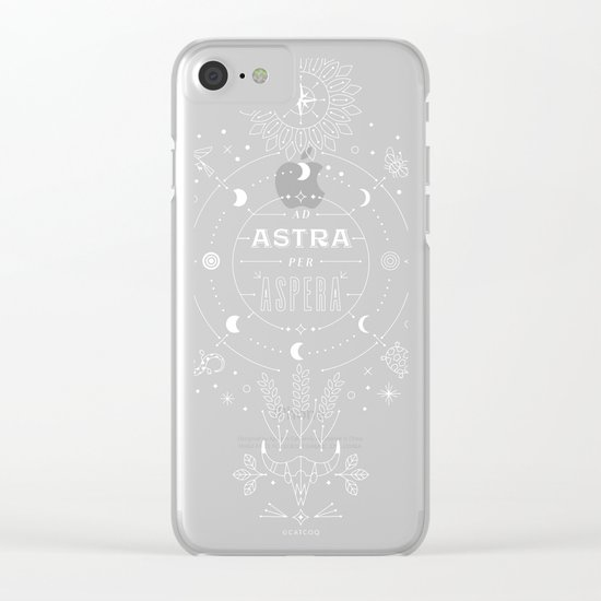 Ad Astra Per Aspera Clear iPhone Case