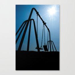 Abandoned Swing Set Canvas Print