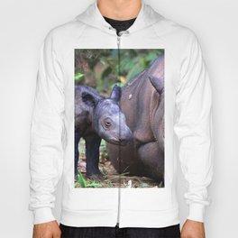 sumatran rhino cub pair Hoody