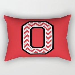 "Chevron Block ""O"" Rectangular Pillow"