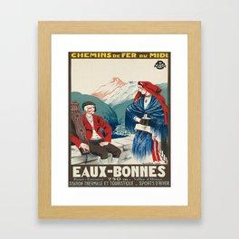 Vintage picture - France Framed Art Print