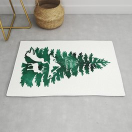 The Great Outdoors Green Rug