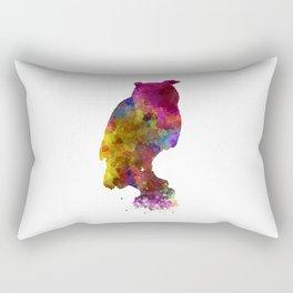 Owl 01 in watercolor Rectangular Pillow