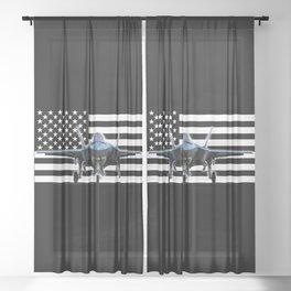 F-35 (Black Flag) Sheer Curtain