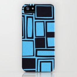 Windows & Frames - Blue iPhone Case