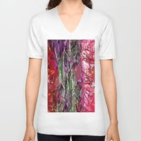 kaleidoscope V-neck T-shirts featuring Kaleidoscope by Lior Blum