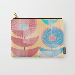 Three Flowers in Retro Style Carry-All Pouch