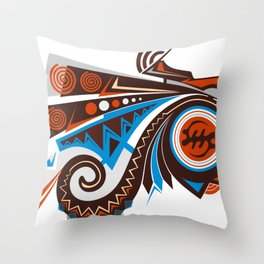 AKAN HEAD Throw Pillow