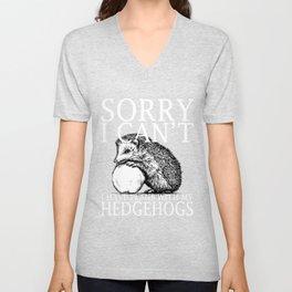 Hedgehogs Funny Shirt Unisex V-Neck