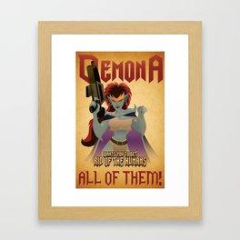 Demona Propganda Framed Art Print