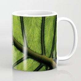 Natural veins in my Elephant ear plant Coffee Mug