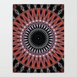 Rustic Mandala Design Poster