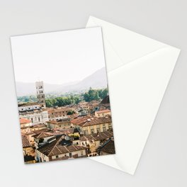 Lucca   Travel photography Italy   Wanderlust city architecture photo art   Tuscany Stationery Cards