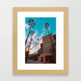 The Famous Beverly Hills Hotel Framed Art Print