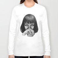 mia wallace Long Sleeve T-shirts featuring Mia Wallace by Rebecca Hådell