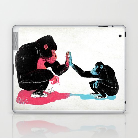 Monkey See Monkey Do Laptop & iPad Skin
