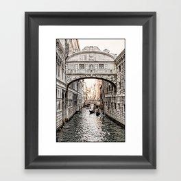Bridge of Sighs, Venice, Italy (Lighter Version) Framed Art Print