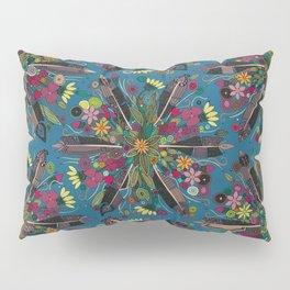 bohemian posy blue Pillow Sham