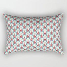 Bulbuous CHERRY MINT Rectangular Pillow