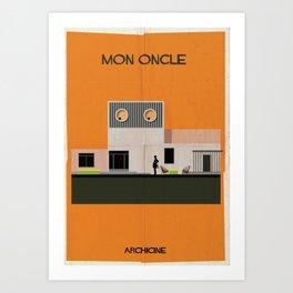 2.Mon oncle Directed Jacques Tati. Art Print