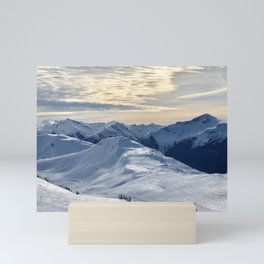 Beautiful Winter Snowy Mountains Mini Art Print