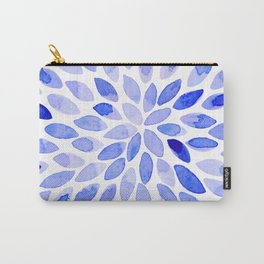 Watercolor brush strokes - blue Carry-All Pouch