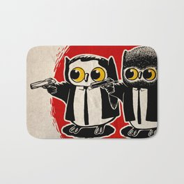 Owls Pulp Fiction Bath Mat