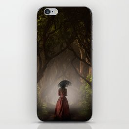 Satin red dress iPhone Skin