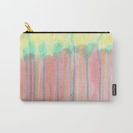 Rain in Rainbow forest. Abstract Carry-All Pouch