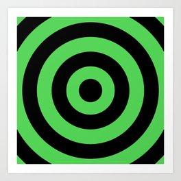 Target (Black & Green Pattern) Art Print