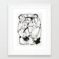 drunk Framed Art Prints featuring Drunk by 5wingerone
