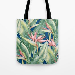 Flowers Birds of Paradise Tote Bag