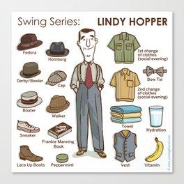 SWING SERIES: LINDY HOPPER Canvas Print