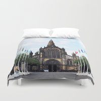 medieval Duvet Covers featuring medieval glasgow by seb mcnulty