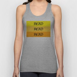 READ READ READ {YELLOW} Unisex Tank Top