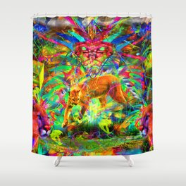 The Laser Focus of Couger Conciousness Shower Curtain