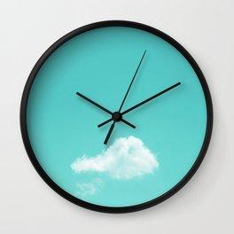 Nube cian Wall Clock